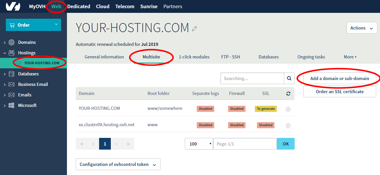Pointing Gandi domain to OVH hosting – WEB – DrGames'Blog